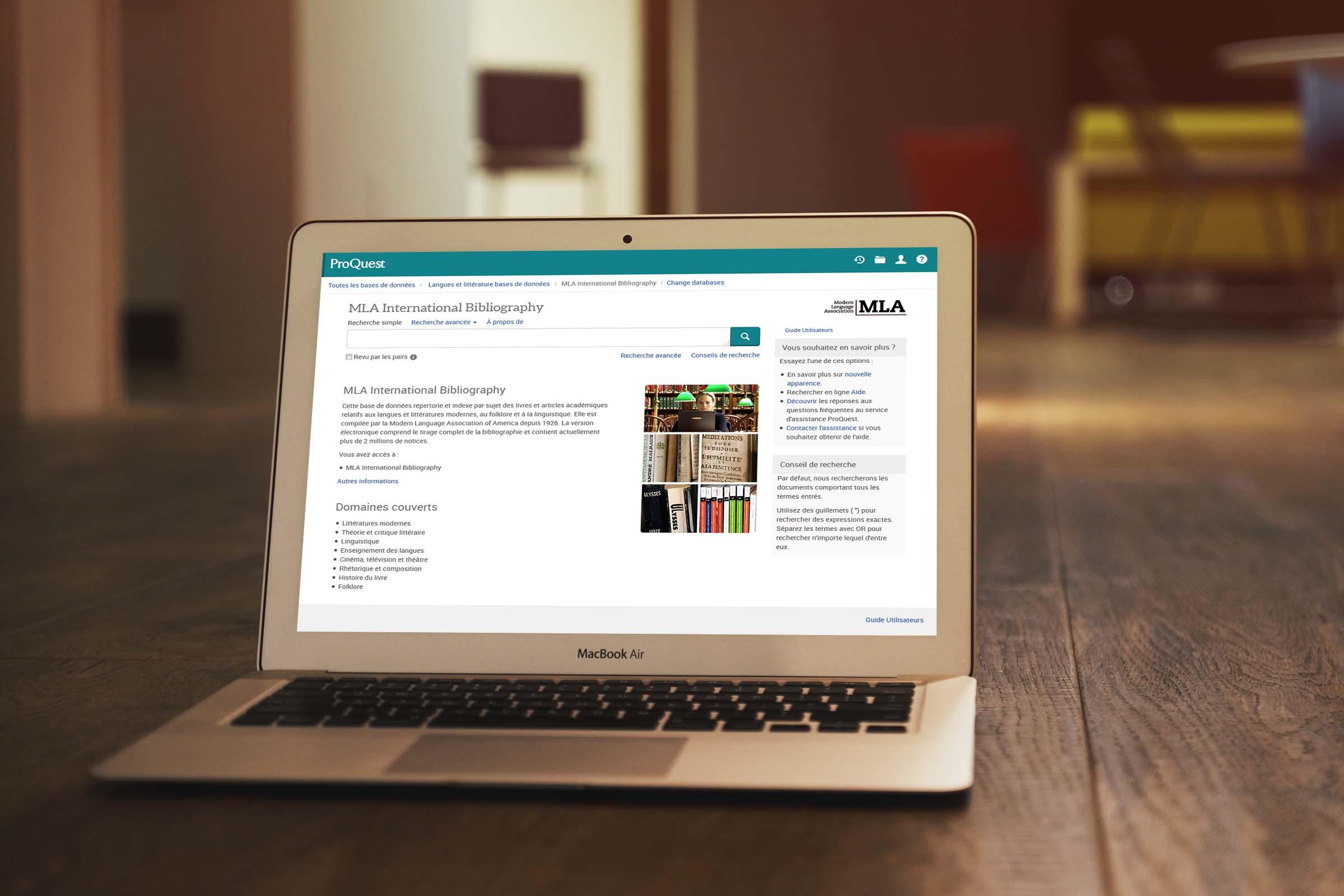 Changement de plateforme pour la base de données MLA (Modern Language Association)