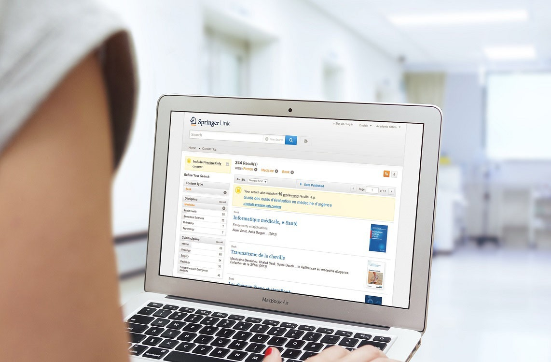Découvrez les ebooks en médecine de l'éditeur Springer !