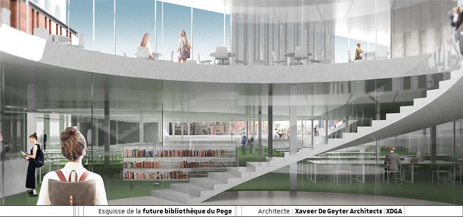 Nouvelle bibliothèque du Pege : déménagement