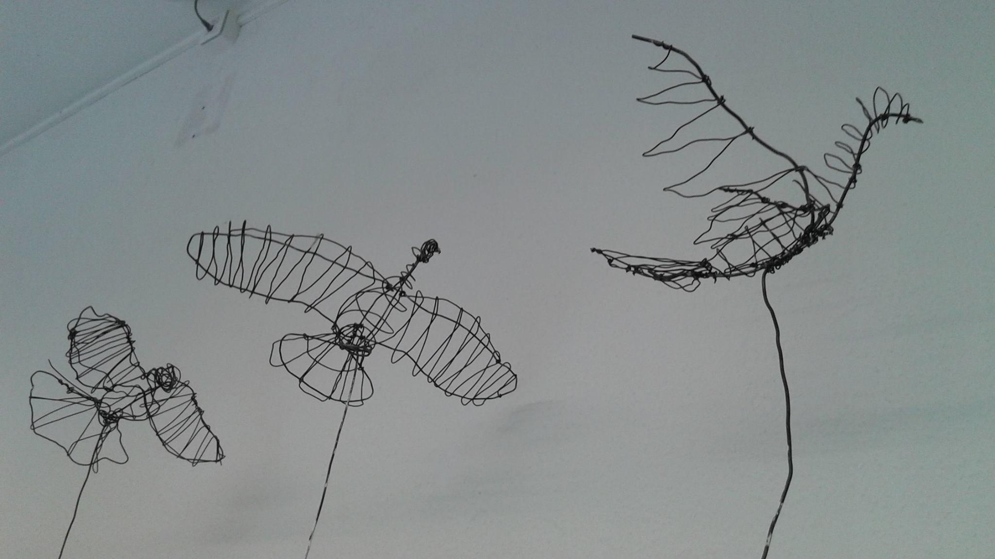 La décomposition du vol du pigeon : exposition de sculptures