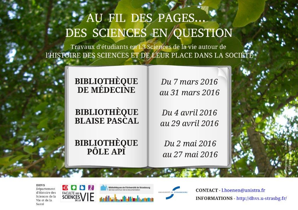 Au fil des pages... des sciences en question